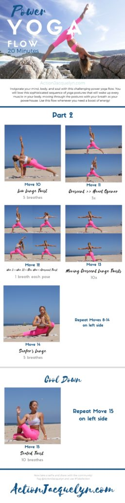 20 Minute Online Power Yoga Flow With Action Jacquelyn