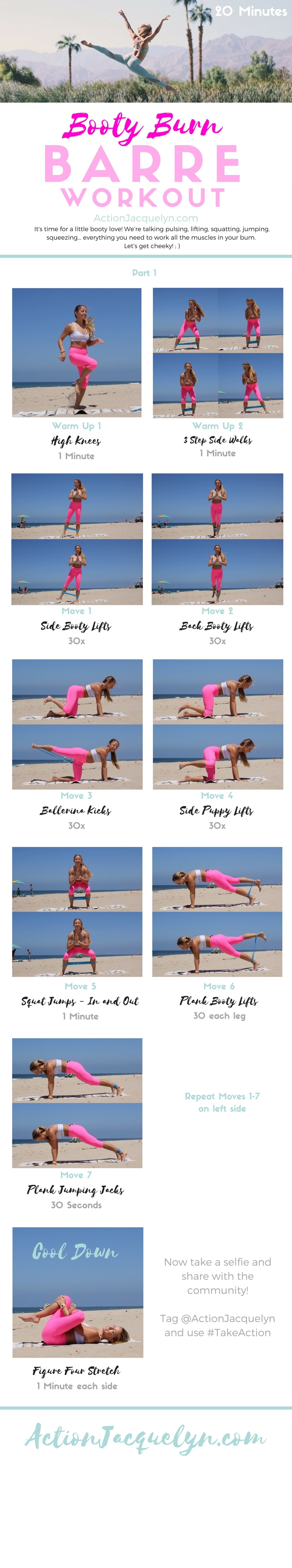 photograph regarding Printable Resistance Band Exercise Chart Pdf called Booty Burn off BARRE Physical fitness Work out with Resistance Band - Comprehensive